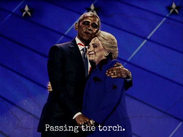 Obama & Hillary Passing the torch