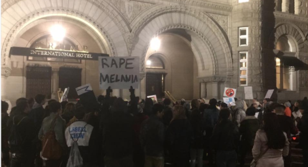media-ignores-protesters-protesting-with-rape-melania-sign-zombie-newszombie-news
